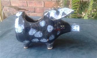 Black pig coin holder