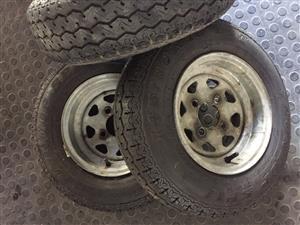 """10"""" galvanized trailer wheels"""