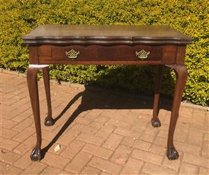 Antique card/side table
