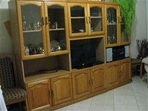 Oak Wall Unit - 3 piece - very good condition