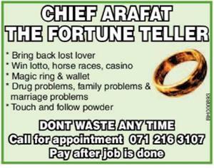 CHIEF ARAFAT THE FORTUNE TELLER