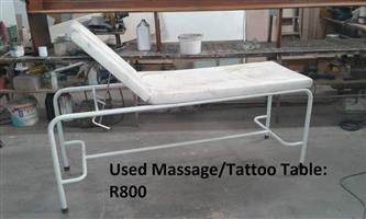 Used massage table
