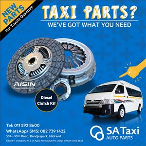 NEW Diesel Clutch Kit 2.5 2KD suitable for Toyota Quantum - SA Taxi Auto Parts quality spares
