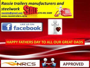Rassie trailers and steelworks all trailers nrcs approved