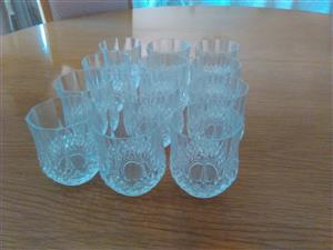 Crystal d arc Whiskey glasses