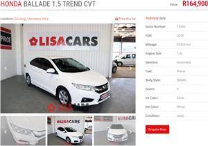 2016 Honda Ballade 1.5 Trend