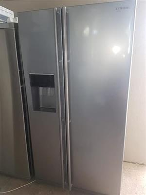 Side by side samsung water and ice maker