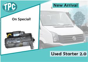 Volkswagen Crafter Used Starter 2.0 for sale at TPC