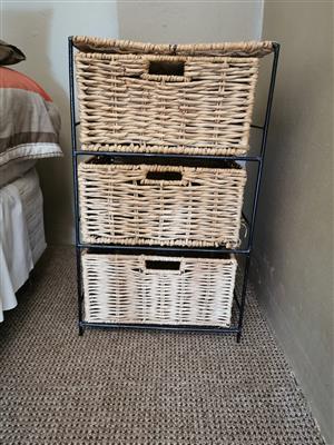 Wicker Bedside Drawers