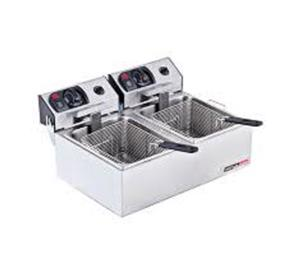 New Fryer Gas + 2 free baskets. (2 Pan)