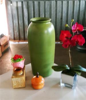 Large green plant vase for sale