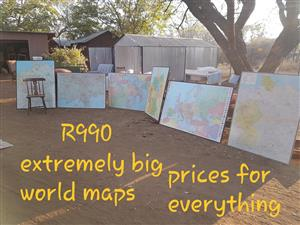 Big world maps for sale