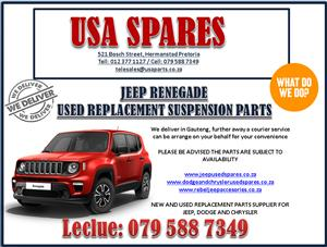 JEEP RENEGADE USED REPLACEMENT SUSPENSION PARTS. USA SPARES CALL NOW