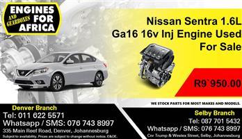 Nissan Sentra 1.6L Ga16 16v Inj Engine Used For Sale