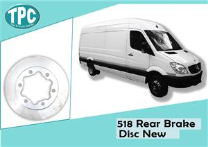 Mercedes Benz Sprinter 518 /VW Crafter Rear Brake Disc New For Sale at TPC