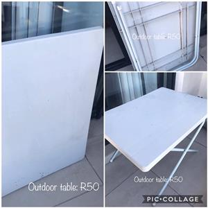 White outdoor table for sale