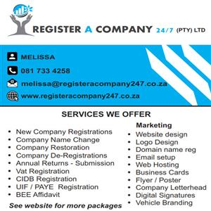 Company Registrations R450