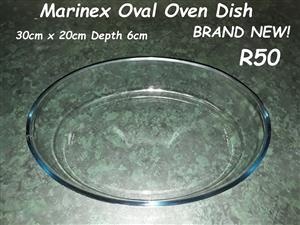 Marinex oval oven dish for sale