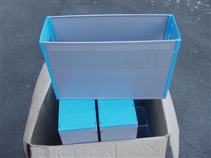 OPTIPLAN Plastic Container - ideal for filing cabinet X 10 containers - as new