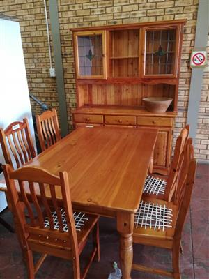 Dining Table, chairs and Server