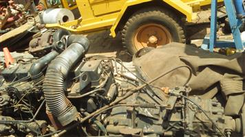 Cummins 6 VT Turbo motor with 5 speed gearbox for sale