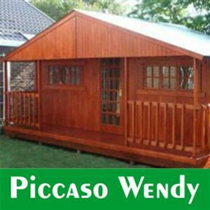 3m x 6m wooden wendy