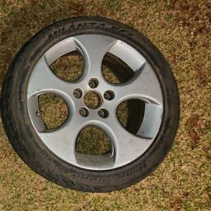 "pair of 2005 17"" vw golf gti wheels(original)"