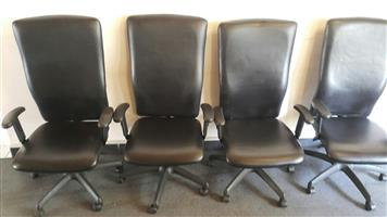 Leather highback swivel chair