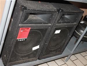 2 x 10 inch PA/DJ speaker system S030138A #Rosettenvillepawnshop