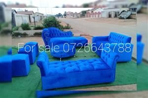 Velvet Couches in picR8900.00 You choose your own colour.