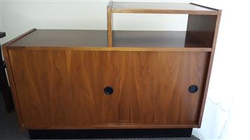Telephone table cupboard with 2 sliding doors