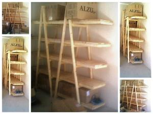Trestle shelving Double A Frame 5 Tier 2440 - Raw