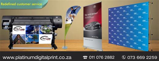 Large Format Printing:stickers/banner, Pull up banners, wall Banner Call 0110762882/ 0736692259