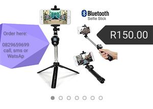 Tripod selfie stick with remote