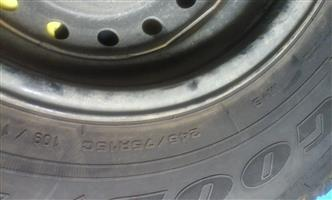 Tyre and Rim - Goodyear 245/75R15C