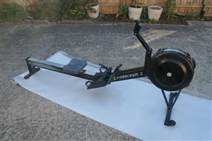 Neatly Used Concept 2 Rower + PM5 Monitor