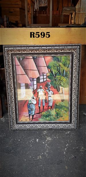Framed Man, two Ladies and a Baby Painting (550x650)