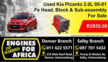 Used Kia 2.0L Fe Head, Block and Sub-Assembly For Sale