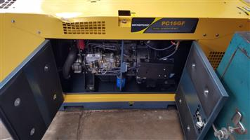 Brand New Silent Diesel Generator PC16GF. (With slight offloading dent)