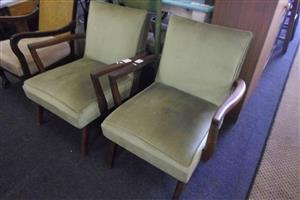 2x Wooden Antique Chairs