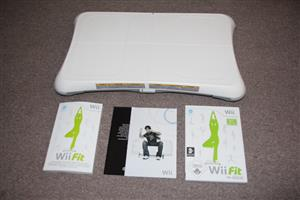 Wii balance board with wii fit fitness game