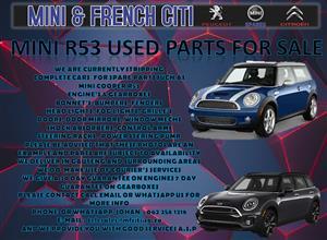 PARTS FOR MINI COOPER R53