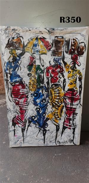 Four Ladies Abstract Painting (460x660)