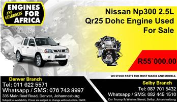 Nissan Np300 2.5L Qr25 Dohc Engine Used For Sale.