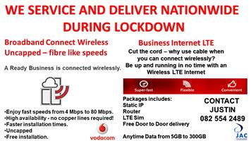 WE SERVICE AND DELIVER NATIONWIDE DURING LOCKDOWN