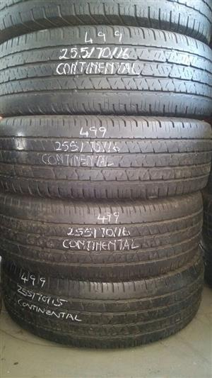 255/70/16 SECONDHAND TYRES