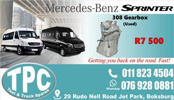 Mercedes Sprinter 308 Gearbox - Used - Quality Replacement Taxi Spare Parts.