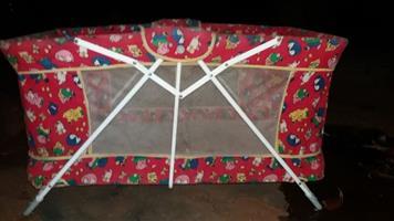 Camping cot.