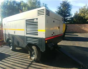 Doosan 1050CFM / 10 Bar Mobile Diesel Compressor - 2165hrs