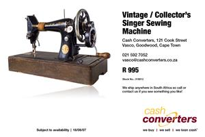 Vintage / Collector's Singer Sewing Machine